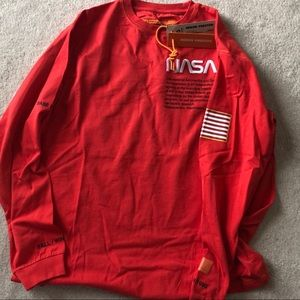 Heron Preston nasa red long sleeve t shirt